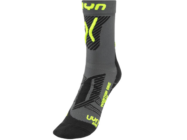 UYN Cycling MTB Light Socks Herren anthracite/yellow fluo